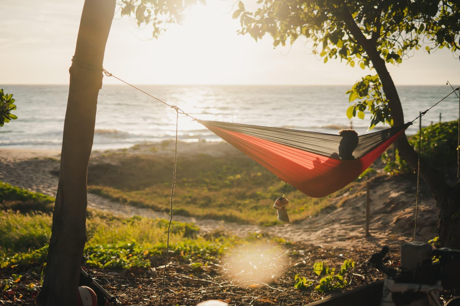 Relaxing In Hammock Watching Sunset