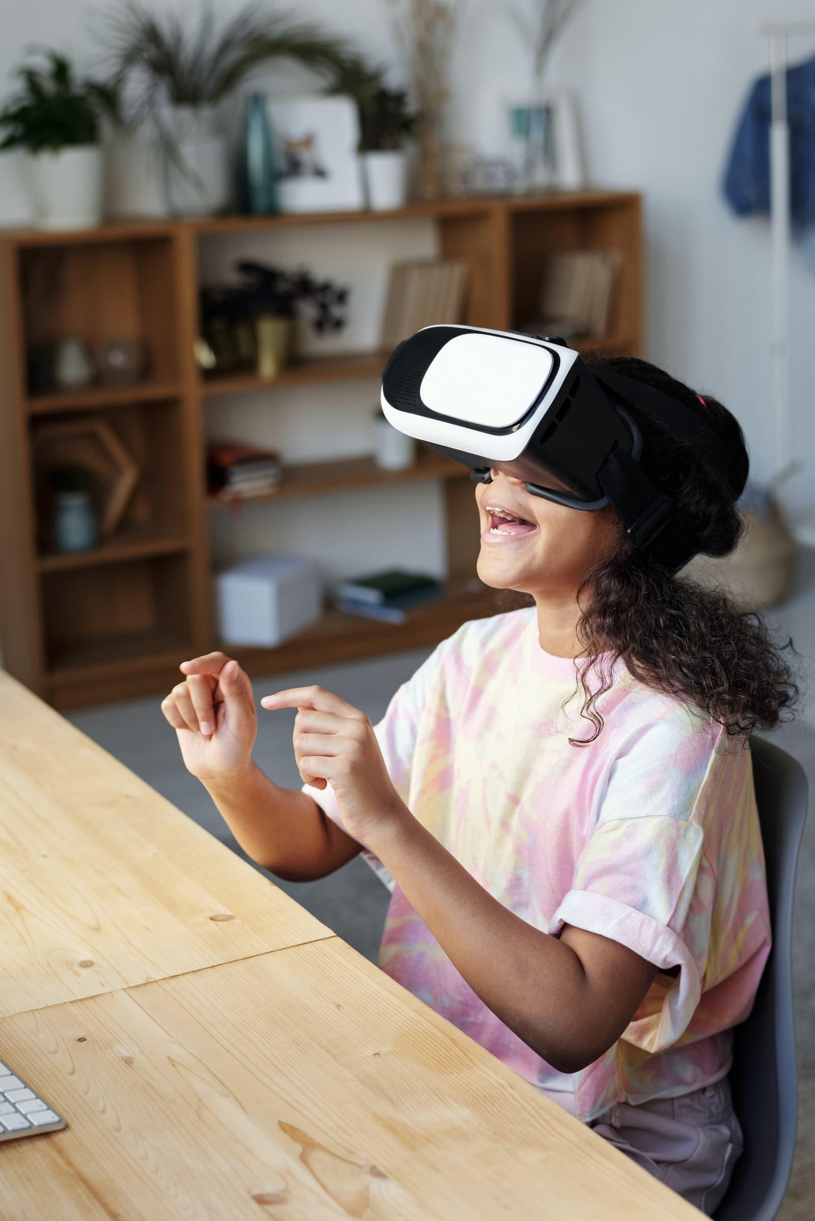 Child In VR Set