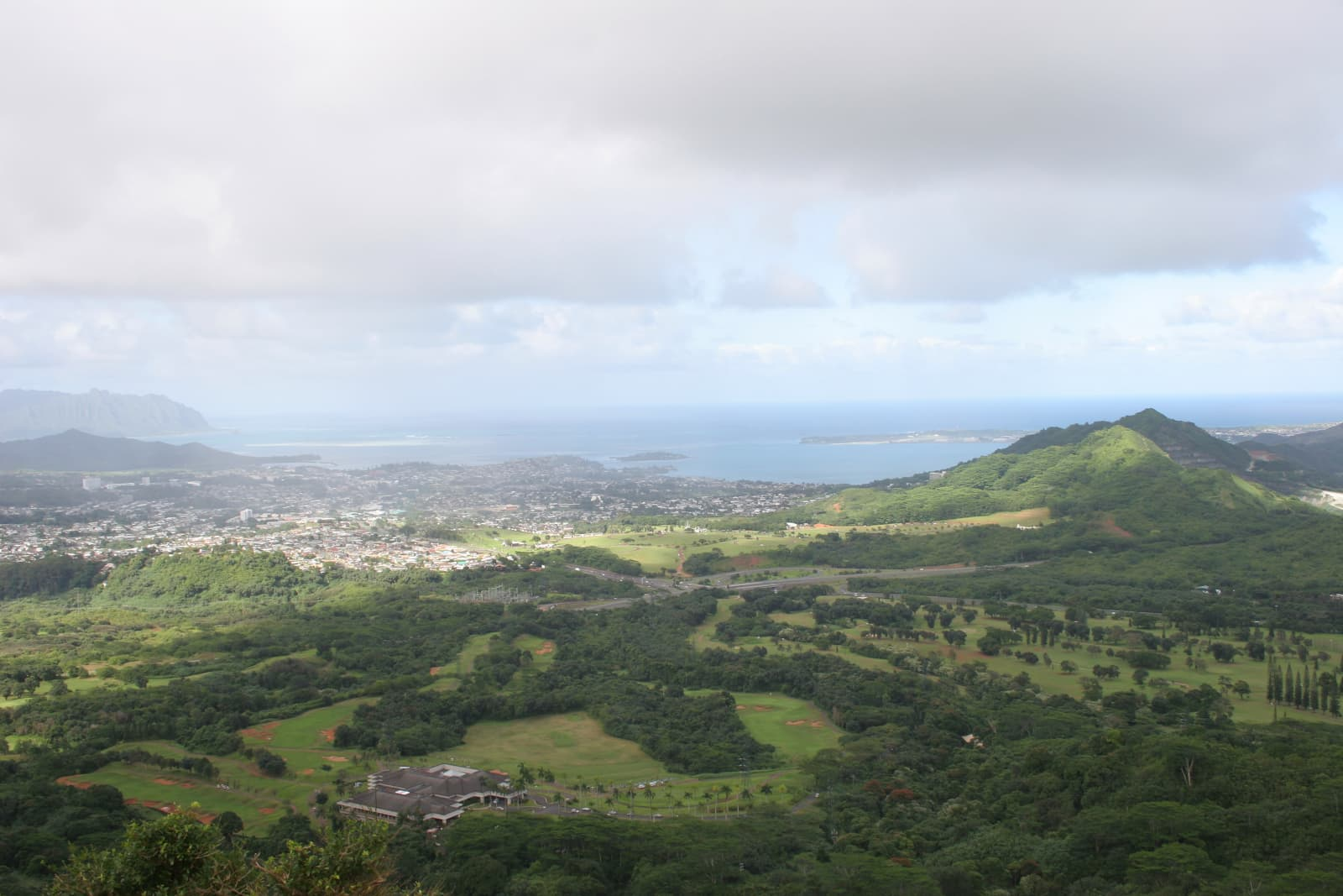 Looking over Kailua
