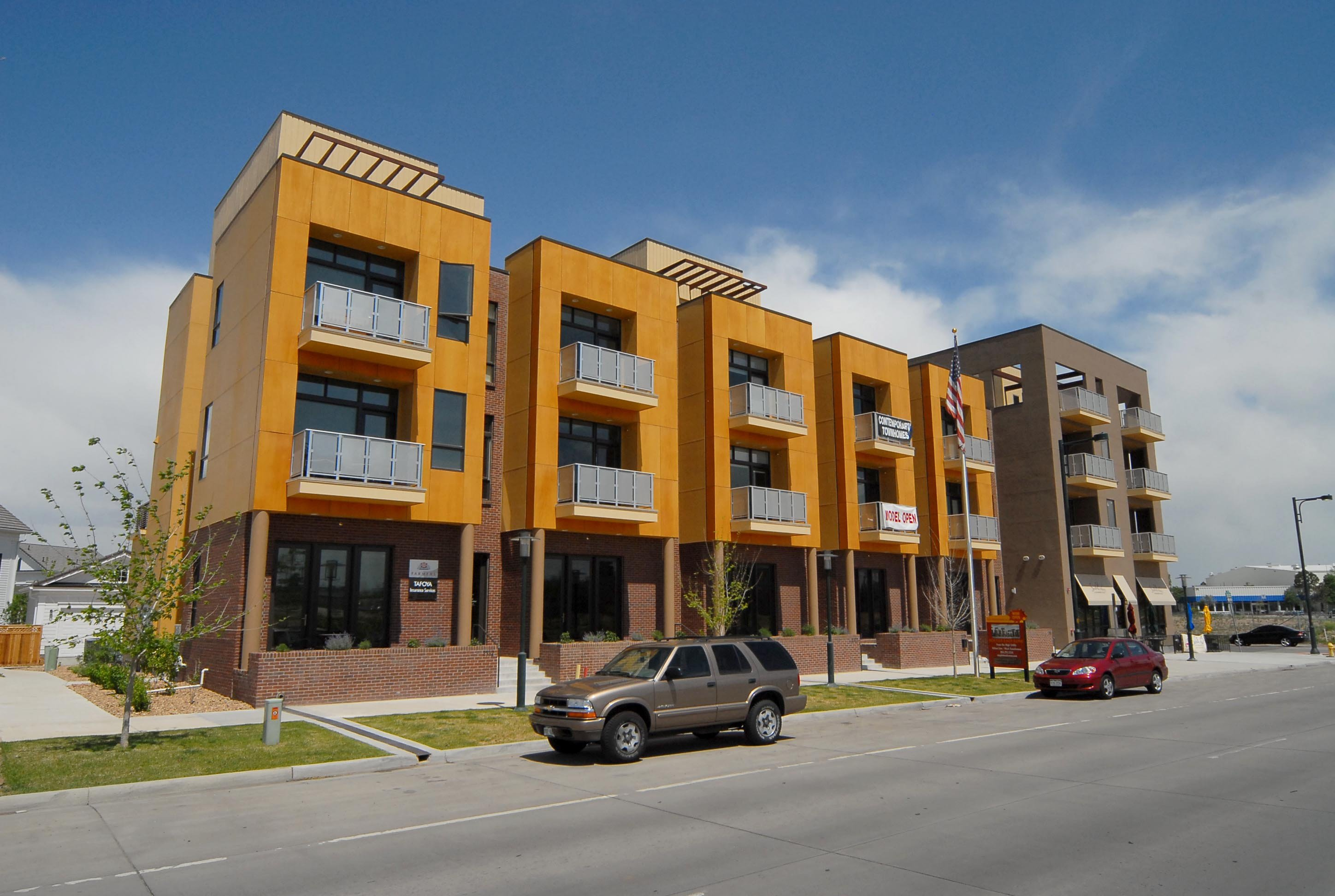 South End Row Live-Work Homes in Central Park Denver