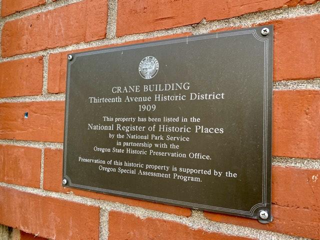 Crane Lofts historic plaque