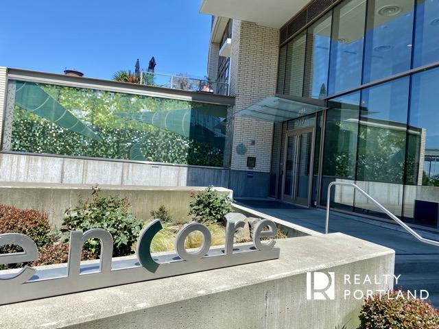 Entrance to Encore Condos in Portland