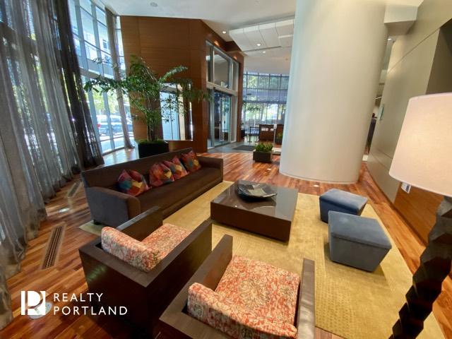 The lobby at The John Ross
