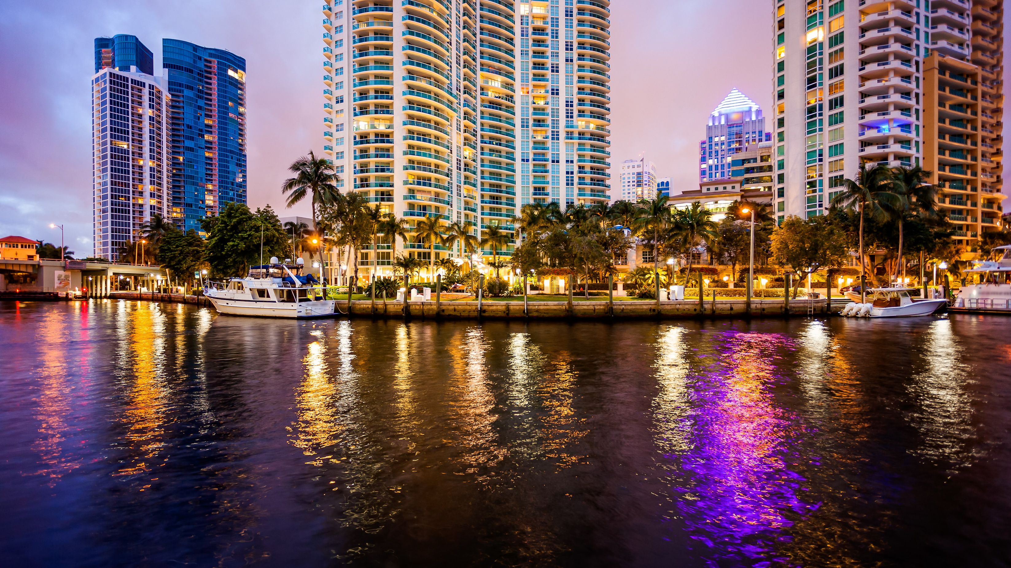 Downtown Fort Lauderdale at night