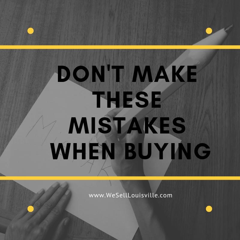 Buyer Mistakes
