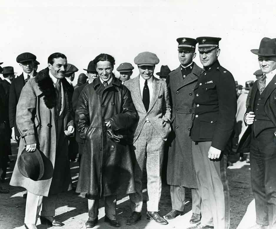1921 Photo of Charlie & Sydney Chaplin at Chaplin Airfield