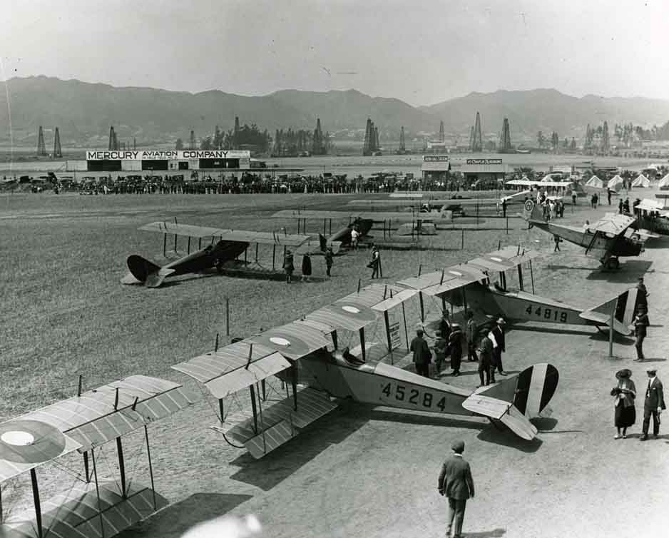 1920 Vintage Photo of Mercury Aviation & DeMille Field