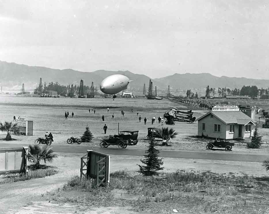 1921 Historic photo of Chaplin Airdrome