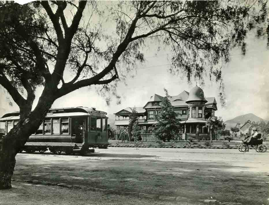 Early photo of Hollywood Blvd. & Wilcox Ave.