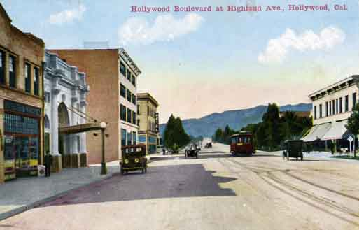 Vintage Hollywood Boulevard Photo