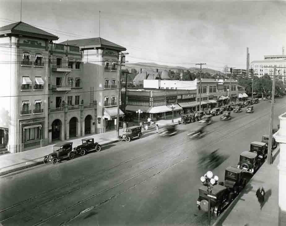 Vintage photo of Hollywood Blvd.