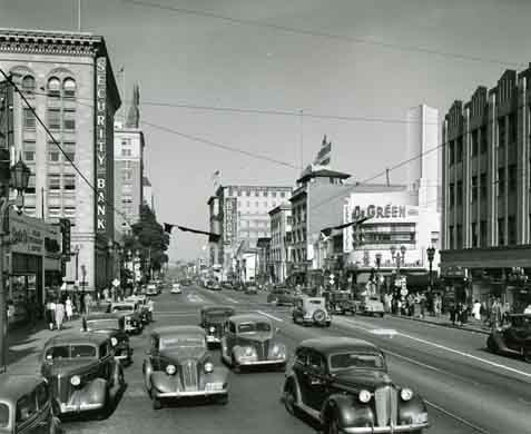 Historical photo of Hollywood Blvd.