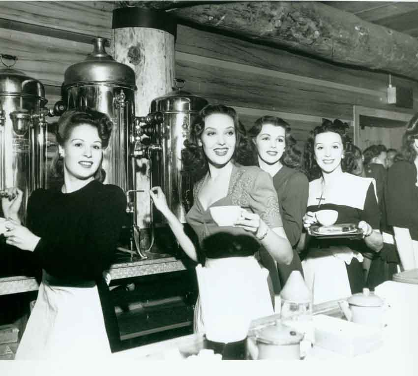 Historic photo of Hollywood Canteen volunteers