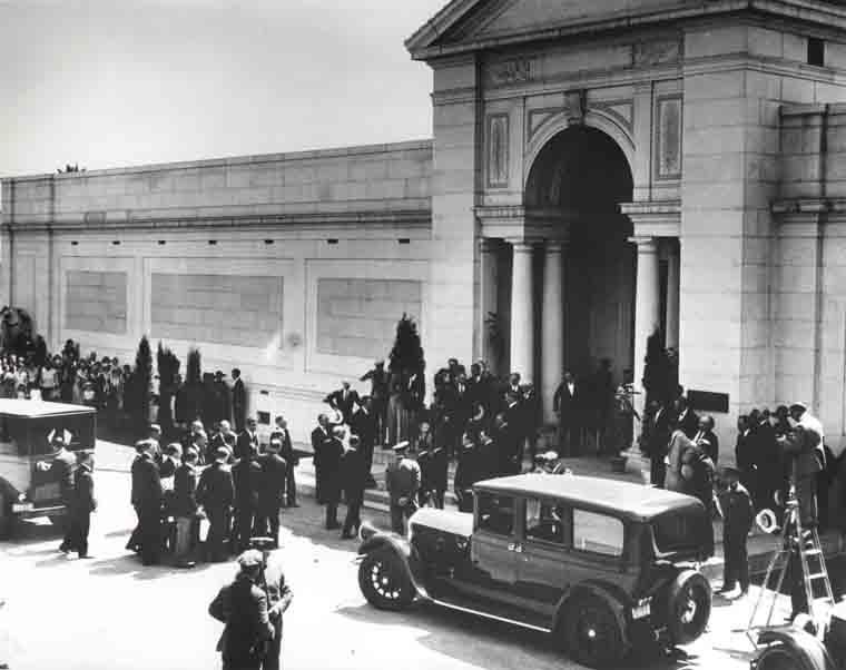 Valentino funeral photo