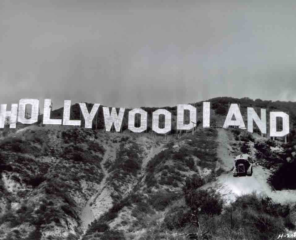 Construction of Hollywoodland Sign