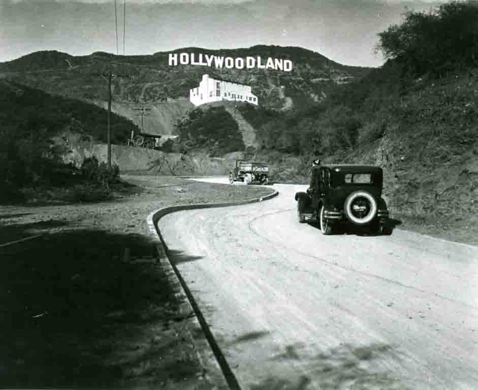 Vintage photo of the Hollywood Sign