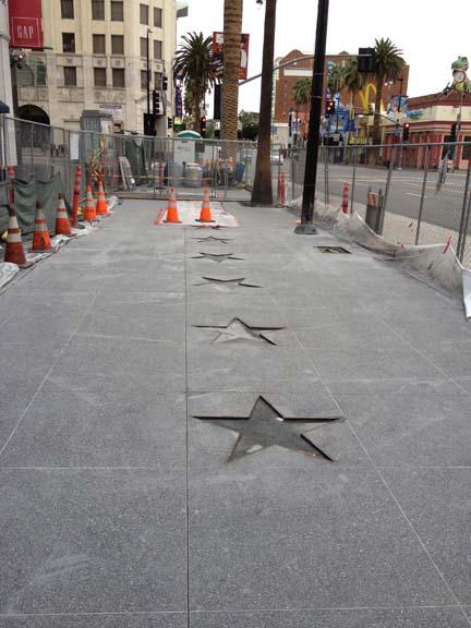 Repairs of Hollywood Walk of Fame