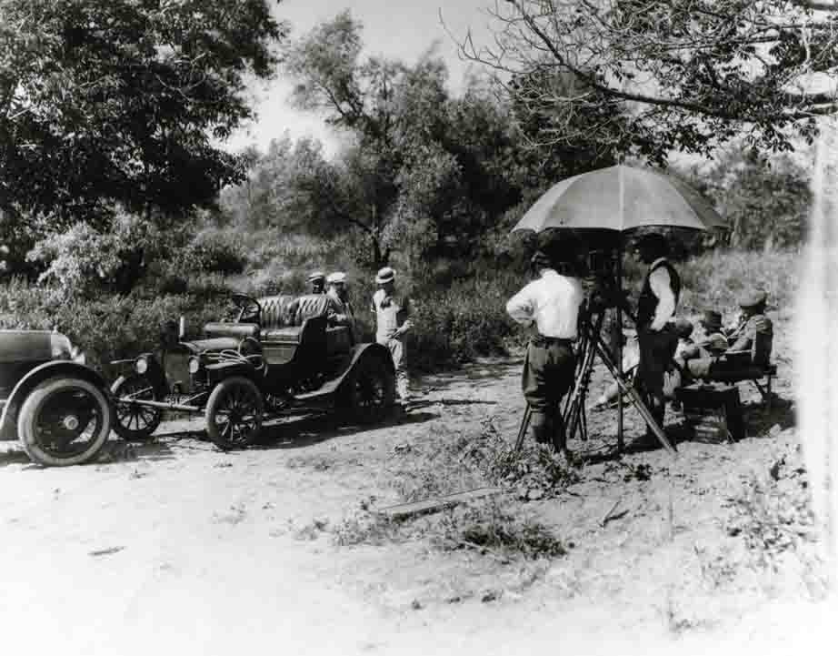 Old Hollywood movie studio photo