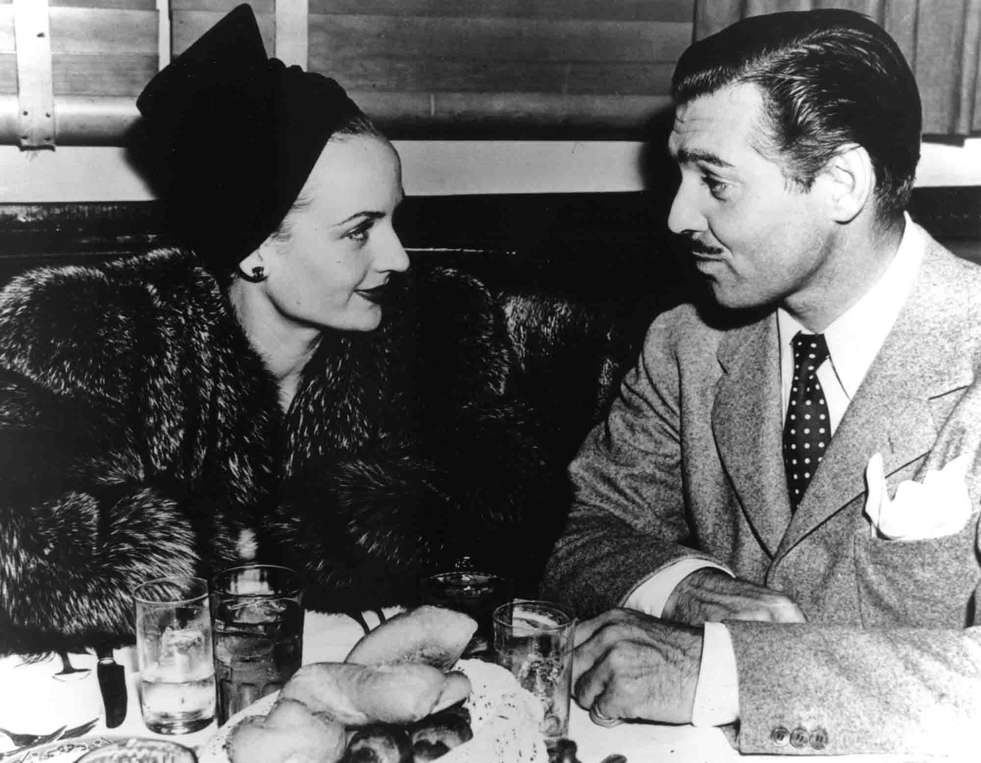 Vintage photo of Clark Gable & Carole Lombard