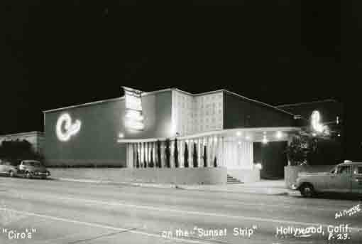 Night photo of Ciro's Nightclub