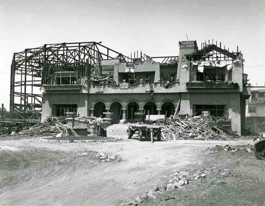 demolition of Paul DeLongpre's house