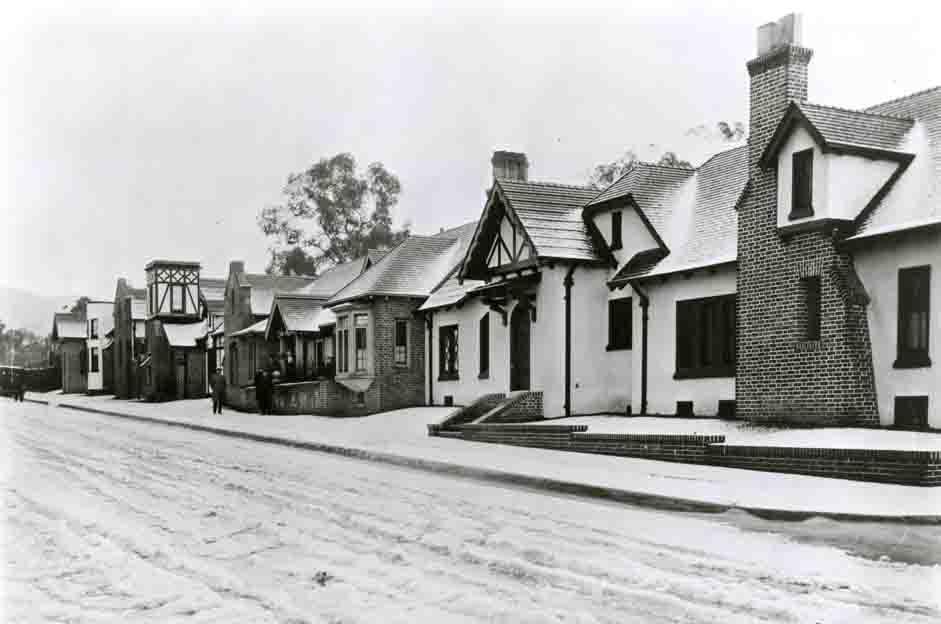 Vintage photo of Charles Chaplin Studio in Hollywood