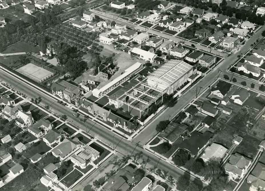 Aerial of Chaplin Studio