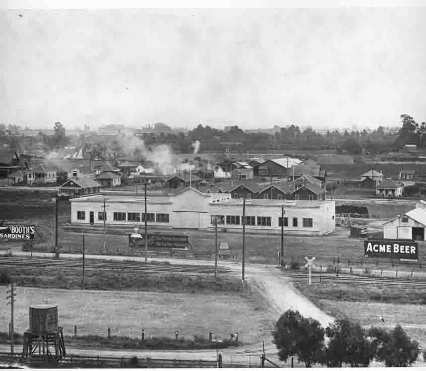 Historical photo of a Hollywood movie studio