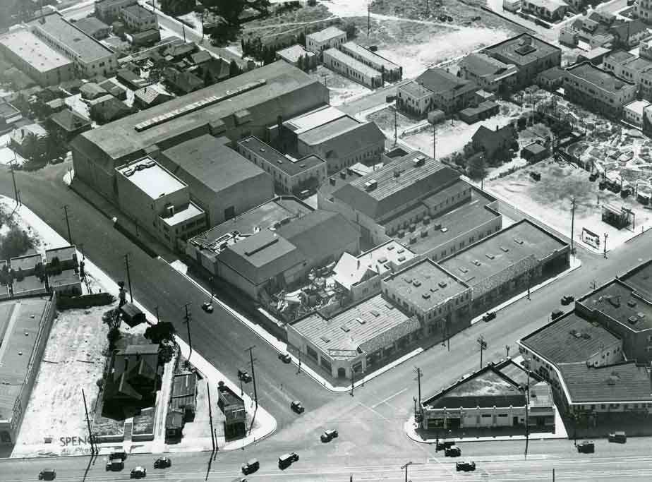 Vintage photo of old Hollywood movie studio