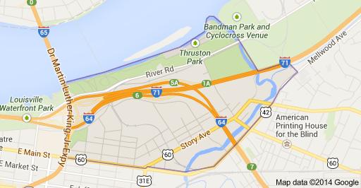 A Map of Butchertown, Louisville, KY