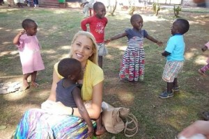 Heidi Fore in Africa at orphanage