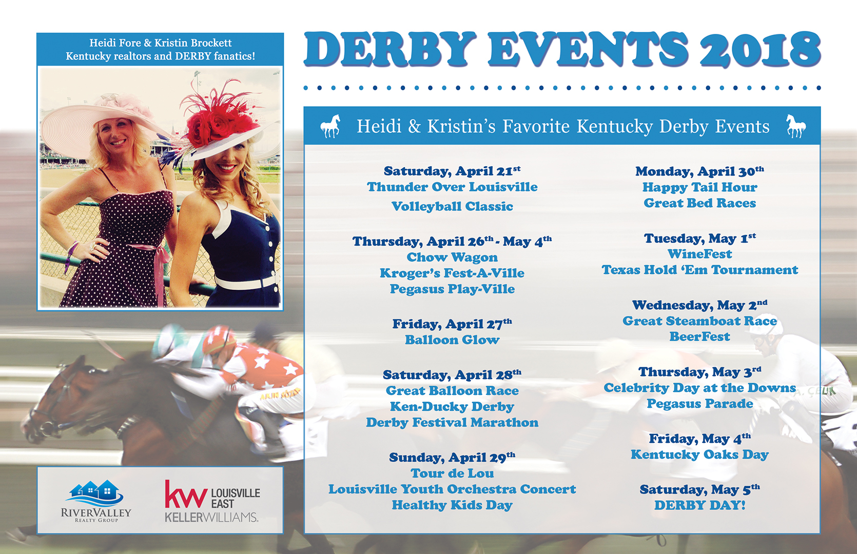 Heidi Fore & Kristin Brockett's favorite Kentucky Derby events!