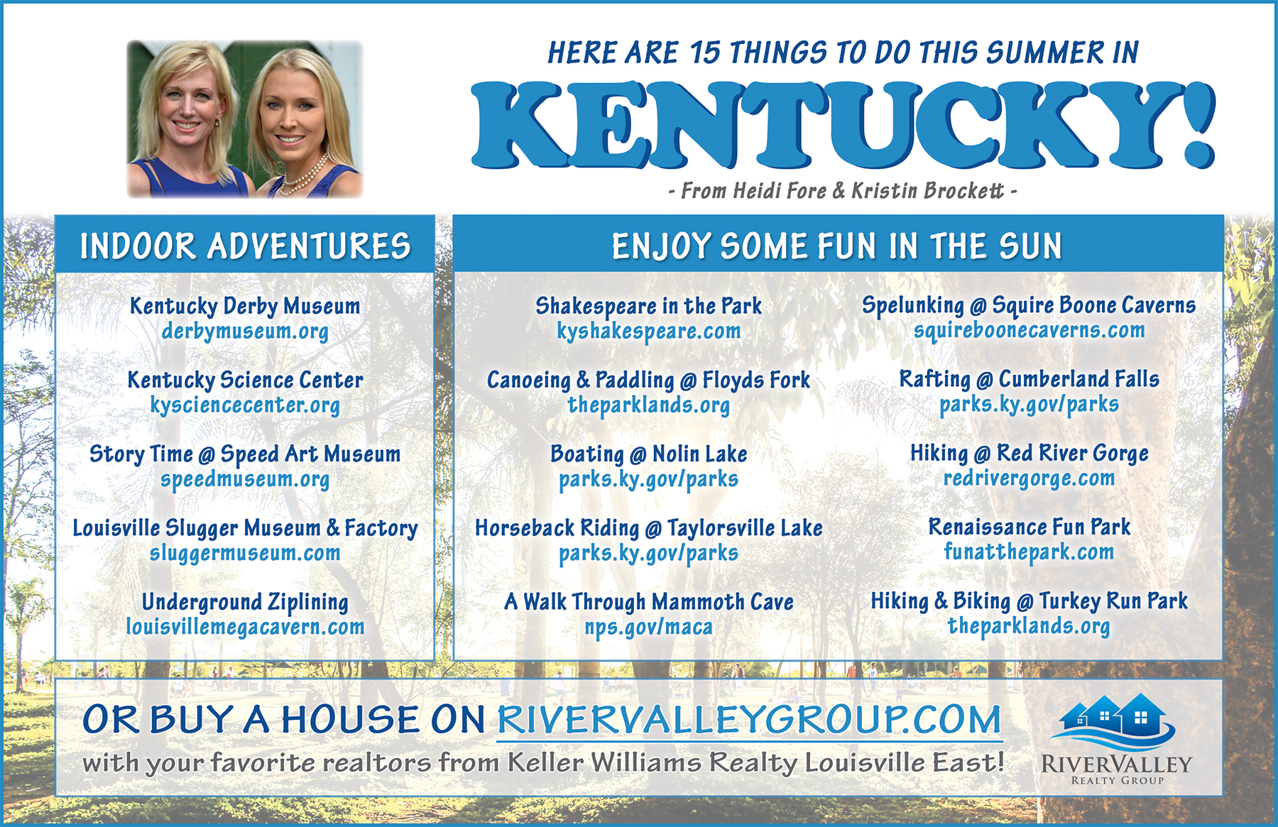 Things To Do In Kentucky This Summer!