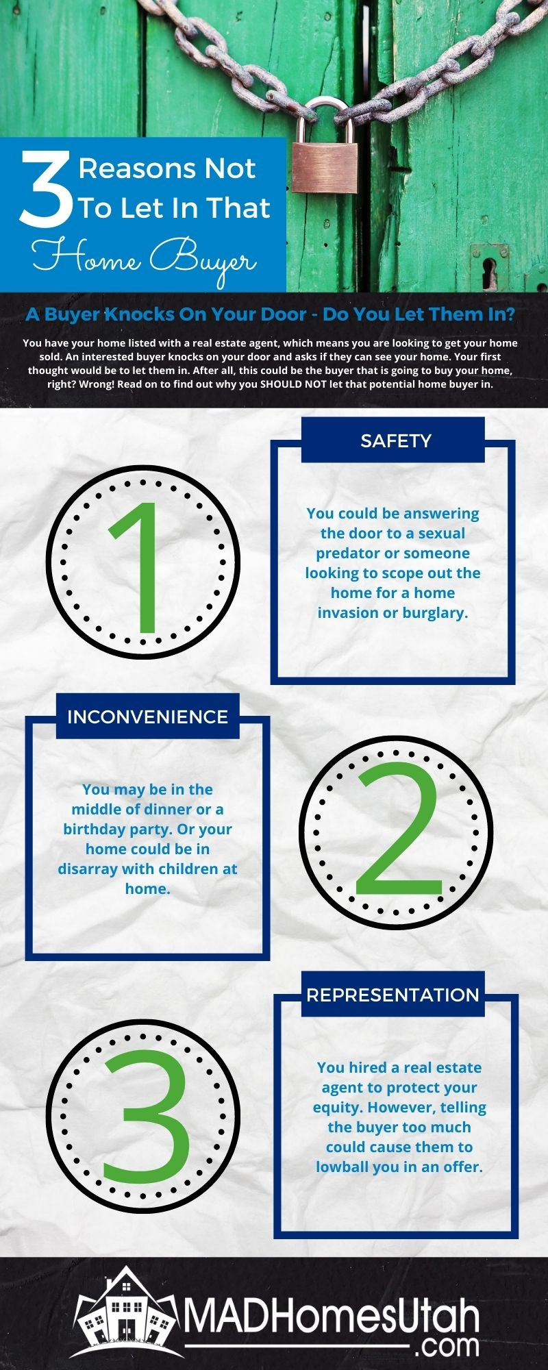 Image- Infographic of the 3 reasons you shouldn't let in that home buyer.