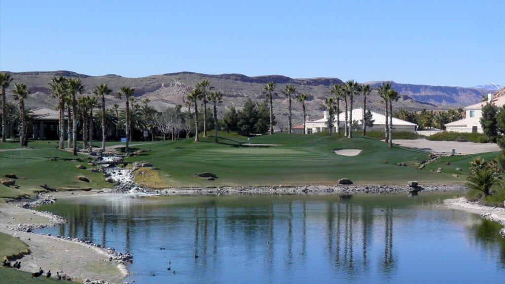 16th Hole at Rhodes Ranch Golf Club in Las Vegas, NV - Credit: Rhodes Ranch Golf Club