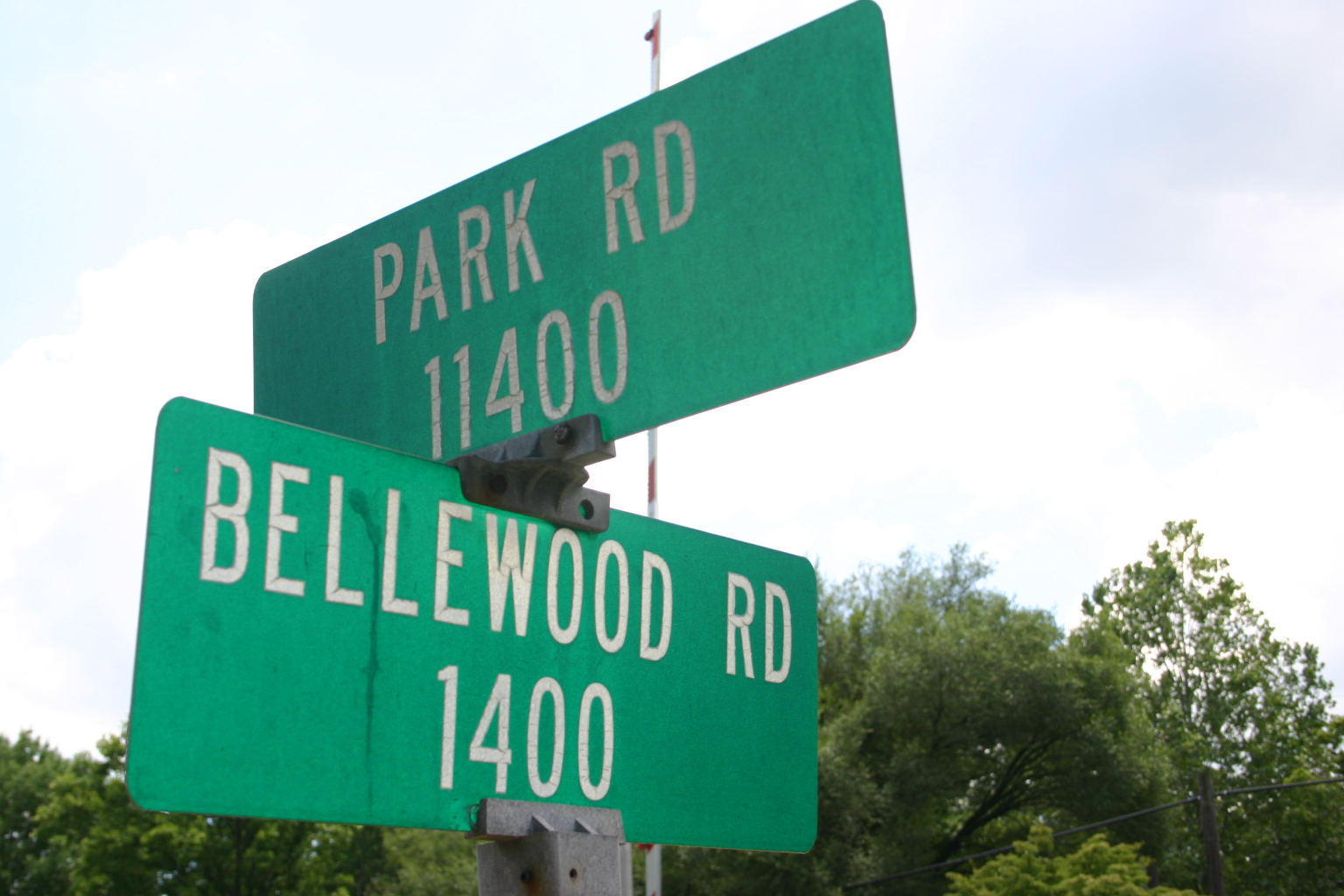 Corner of Bellewood and Park Road
