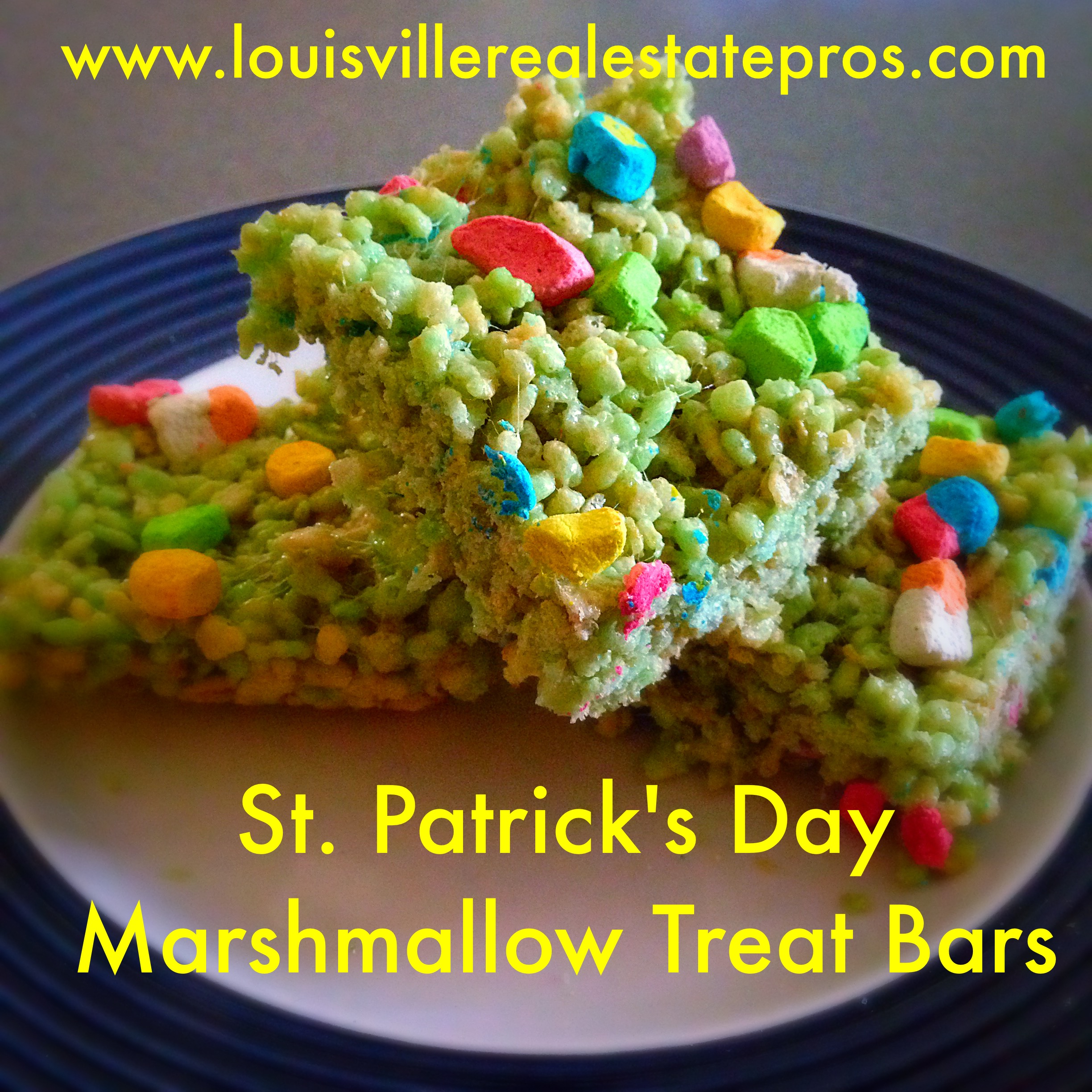 St. Patrick's Day Marshmallow Treat Bars