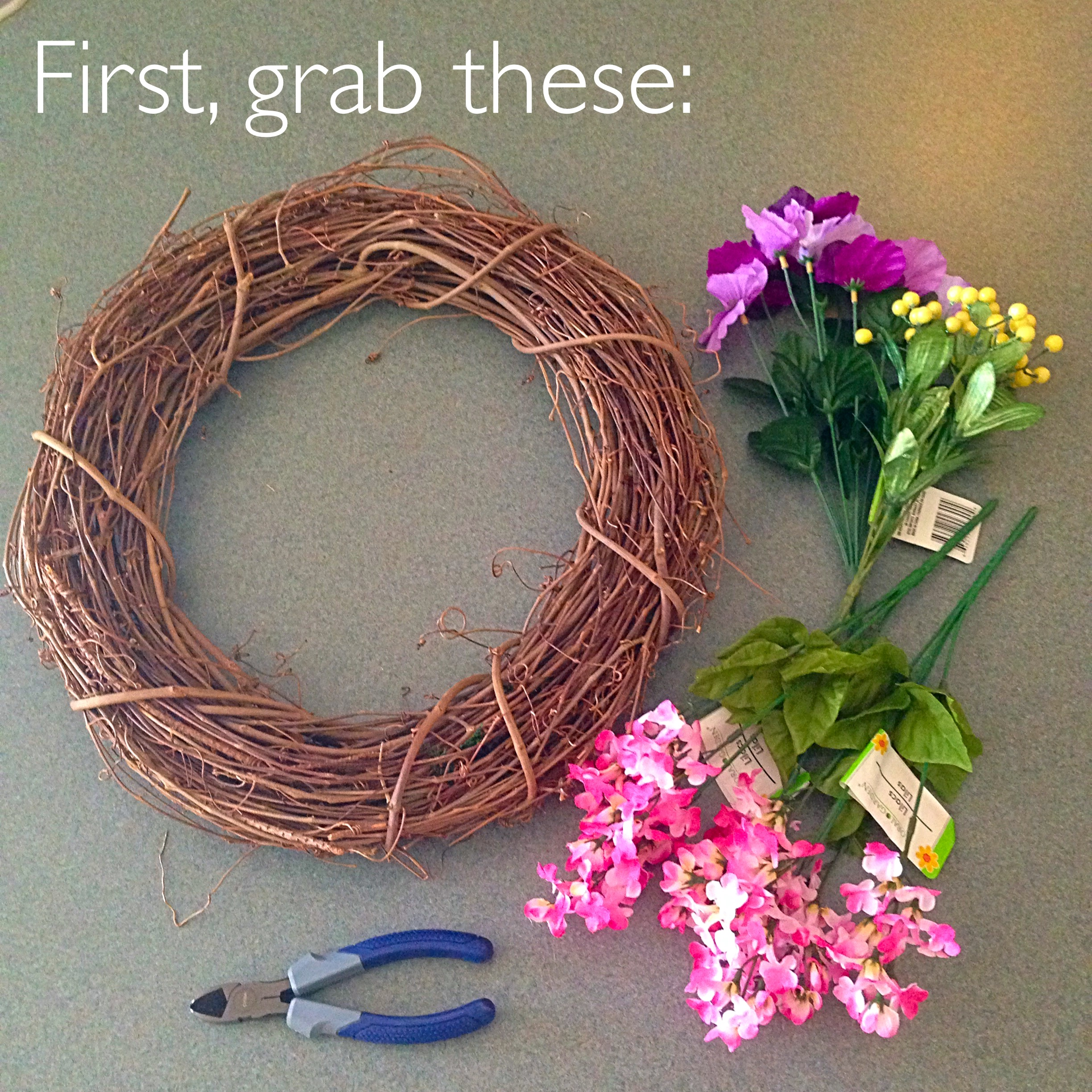 5 Minute DIY Spring Wreath
