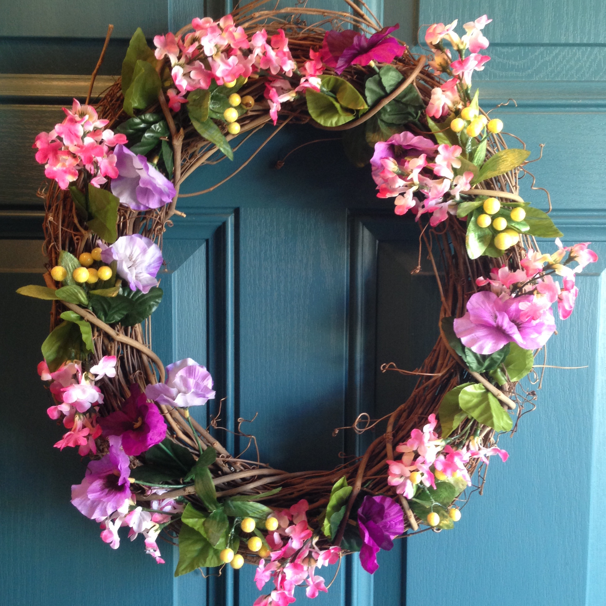 5 Minute DIY Spring Wreath