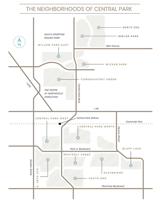 Denver Central Park Neighborhood Map