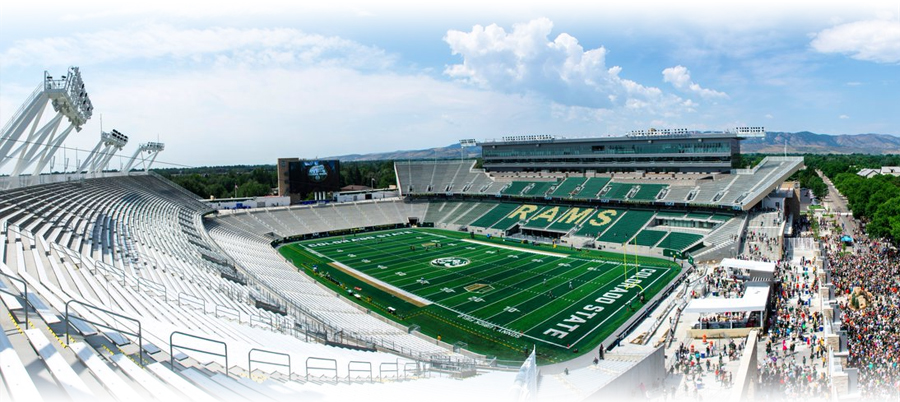 New stadium for the Colorado State Rams football team