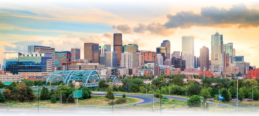 Downtown Denver from Jefferson Park