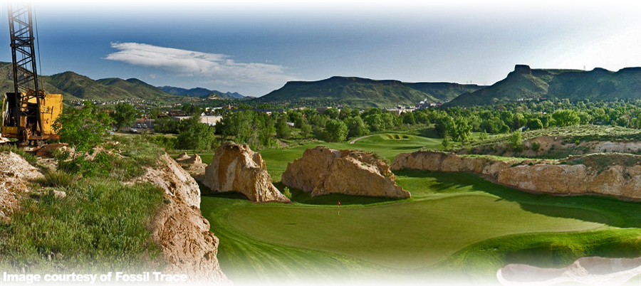 Fossil Trace golf course in Golden, Colorado