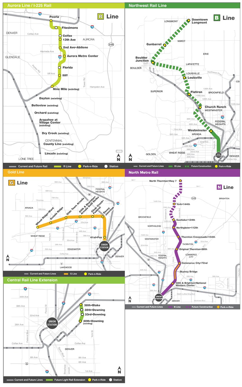 FasTracks Light Rail Map