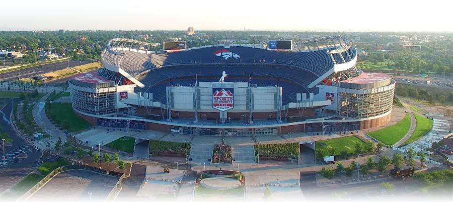 Denver Bronco's stadium at Milehigh