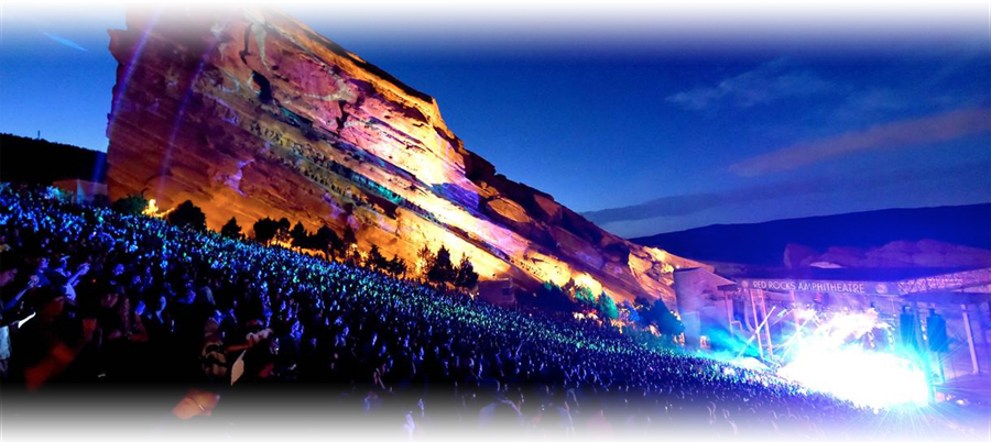 The world famous red rocks amphitheater