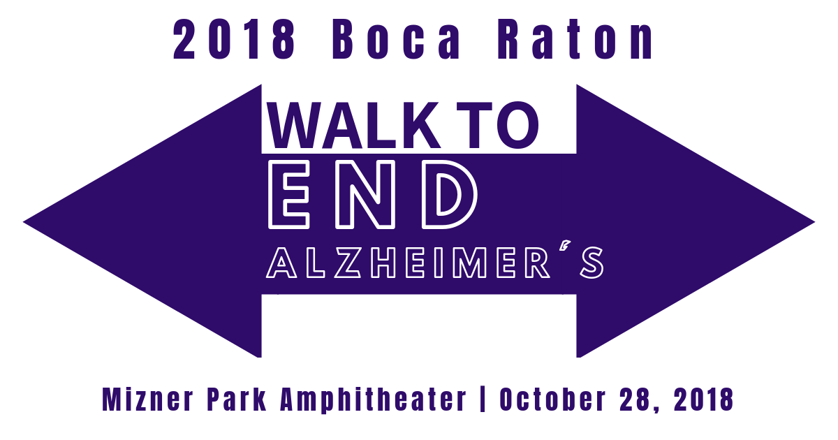 2018 Boca Raton Walk to End Alzheimer's