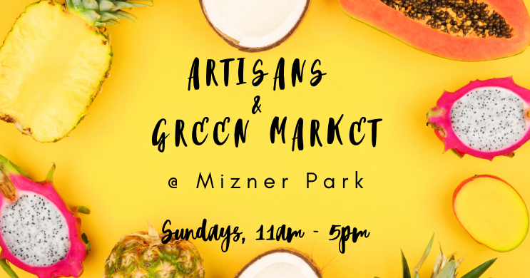 Weekly Artisans & Green Market at Mizner Park in Boca Raton, FL