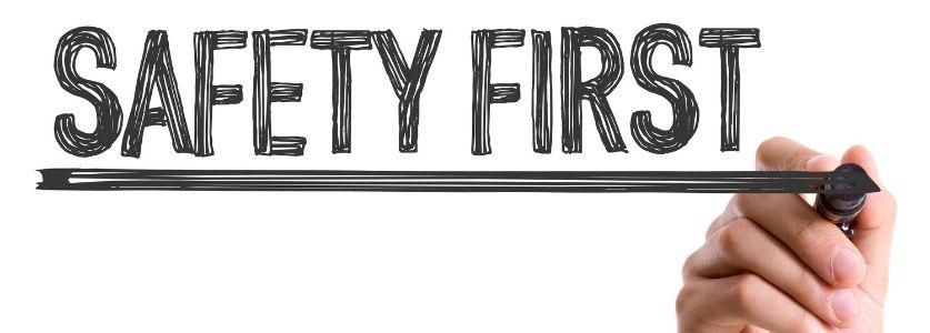 safety first written in marker