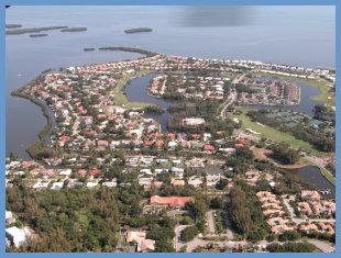Aerial View of Bay Isles, Longboat Key, Florida